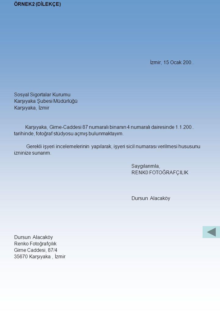 ÖRNEK1 (DİLEKÇE) 9 Konya, 9 Aralık 20.. 3-15 Emlak Vergi Dairesi Müdürlüğü K o n y a 3 Tab Dairenizin (Eb-28455) numaralı mükellefi iken, 200,, yılınd