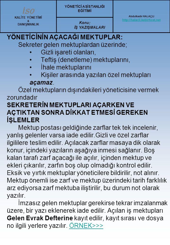 Ortalama Türk Mektubu Örnek: 7 Kahramanmaraş, 23 Mayıs 200..
