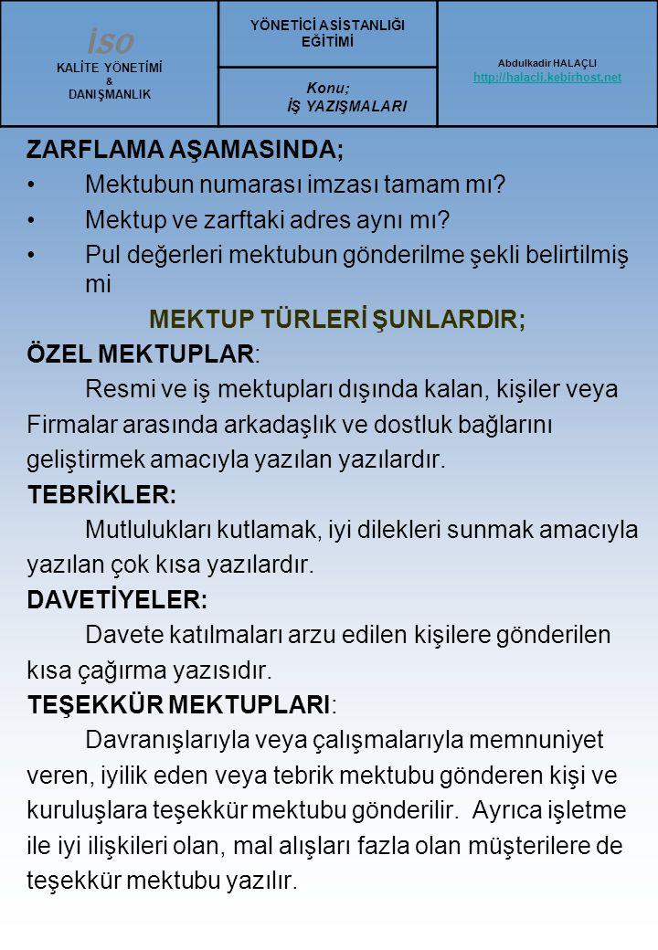 Türk Blok Mektubu Örneği : ALO AJANS REKLAMCILIK LTD.ŞTİ.