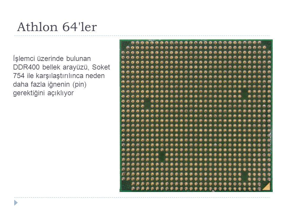 Athlon 64'ler İşlemci üzerinde bulunan DDR400 bellek arayüzü, Soket 754 ile karşılaştırılınca neden daha fazla iğnenin (pin) gerektiğini açıklıyor