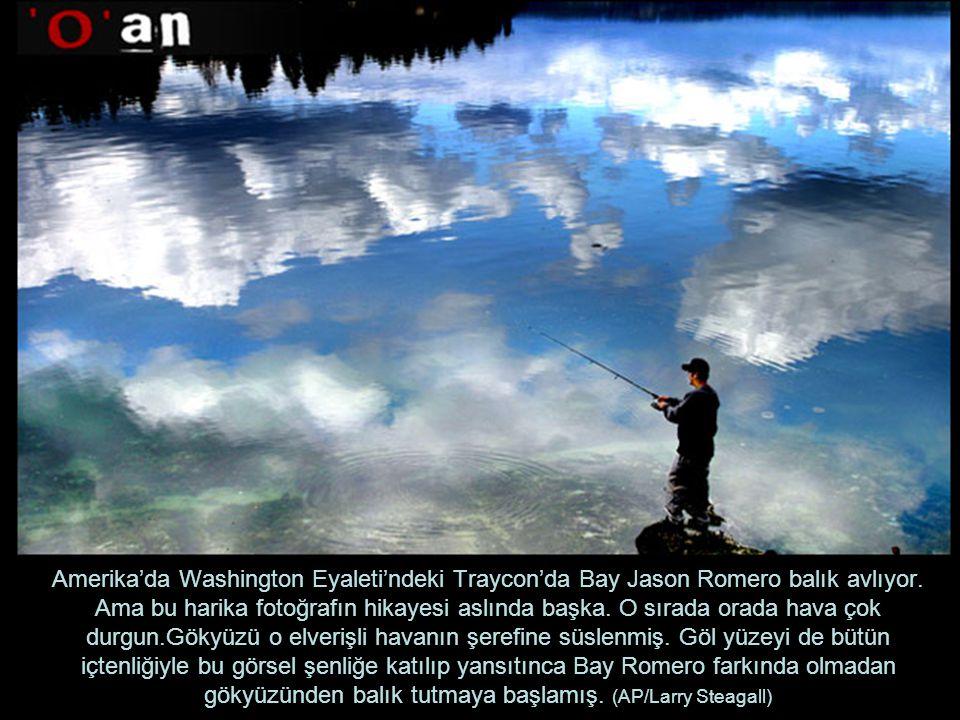 Amerika'da Washington Eyaleti'ndeki Traycon'da Bay Jason Romero balık avlıyor.