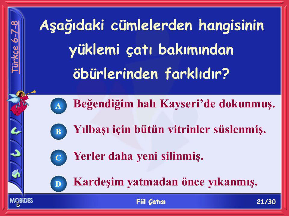 21/30 Fiil Çatısı A B C D Beğendiğim halı Kayseri'de dokunmuş.