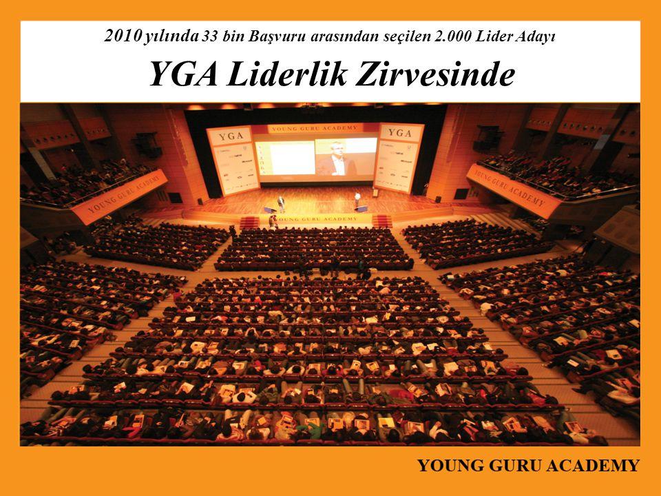 2010 yılında 33 bin Başvuru arasından seçilen 2.000 Lider Adayı YGA Liderlik Zirvesinde