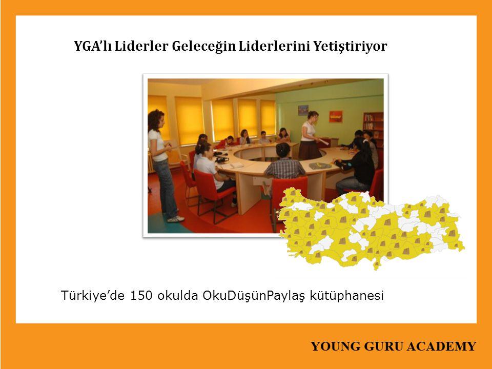 YGA'lı Liderler Geleceğin Liderlerini Yetiştiriyor Türkiye'de 150 okulda OkuDüşünPaylaş kütüphanesi