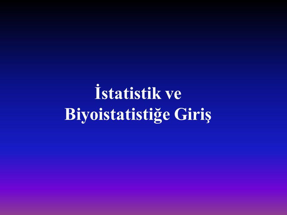 İstatistik ve Biyoistatistiğe Giriş