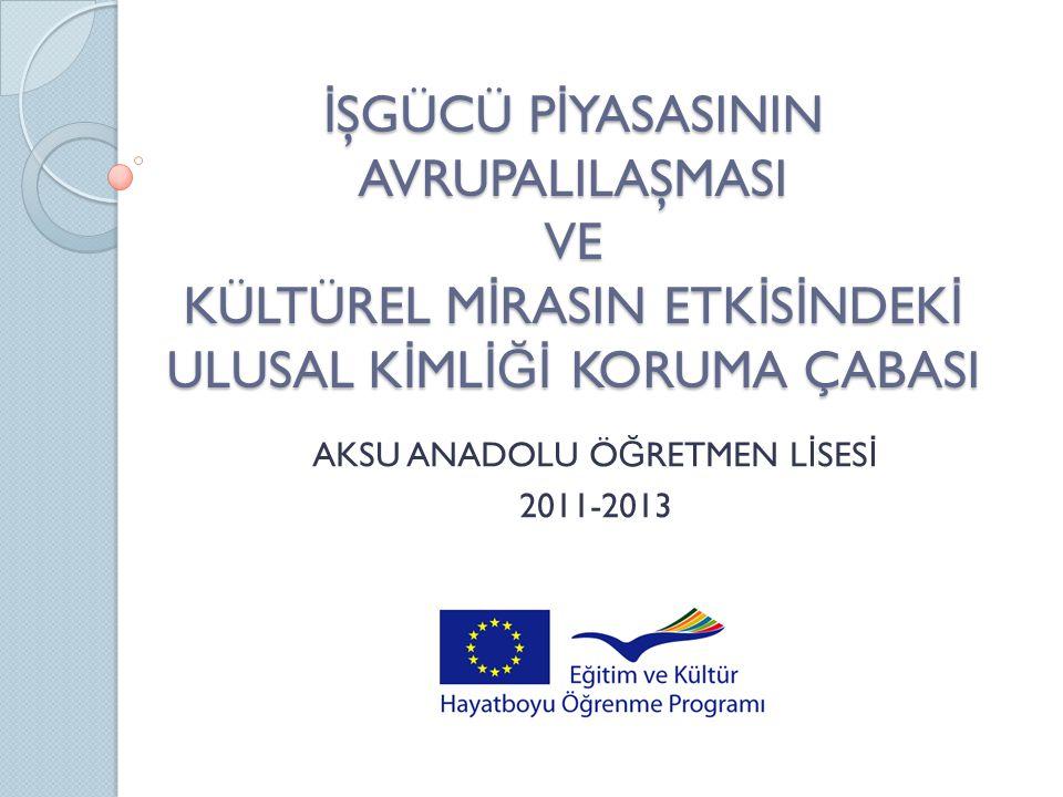 HAZ İ RAN 2012  Projenin ilk yılıyla ilgili çalışma özetinin ve de ğ erlendirmenin yapılması EYLÜL 2012  Projenin ilerleyişi ve Polonyalı ö ğ rencilerin de ğ işimi için ön de ğ erlendirme için Polonyalı ö ğ retmenlerin toplantı Türkiye'ye gelişi