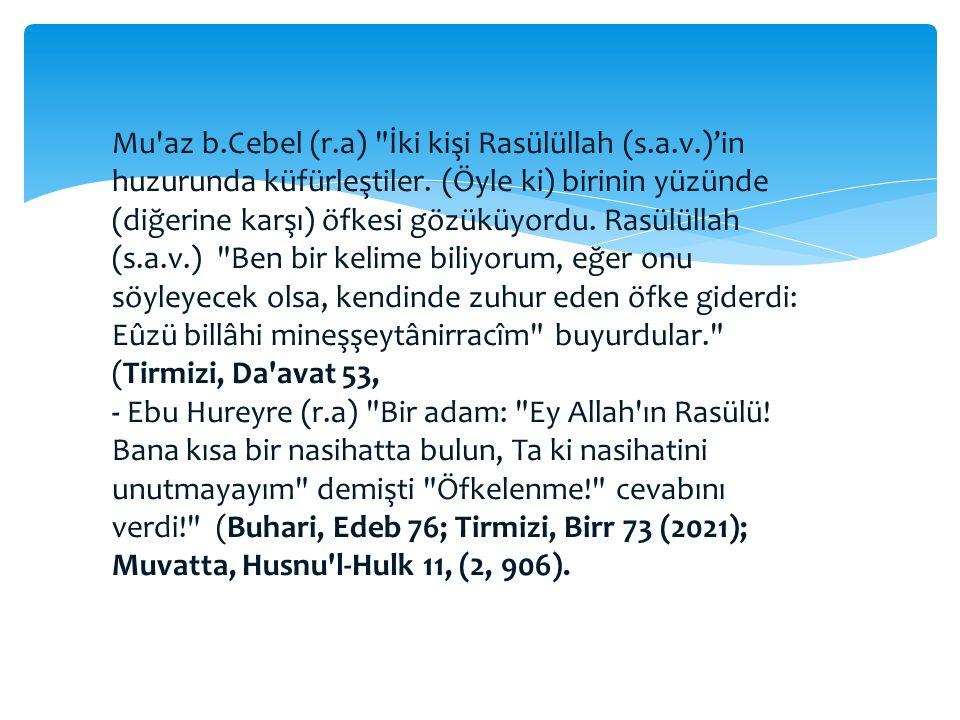 Öfke ve Hz. Muhammed (a.s)'nin Tavsiyeleri -Ebu Hureyre (r.a)