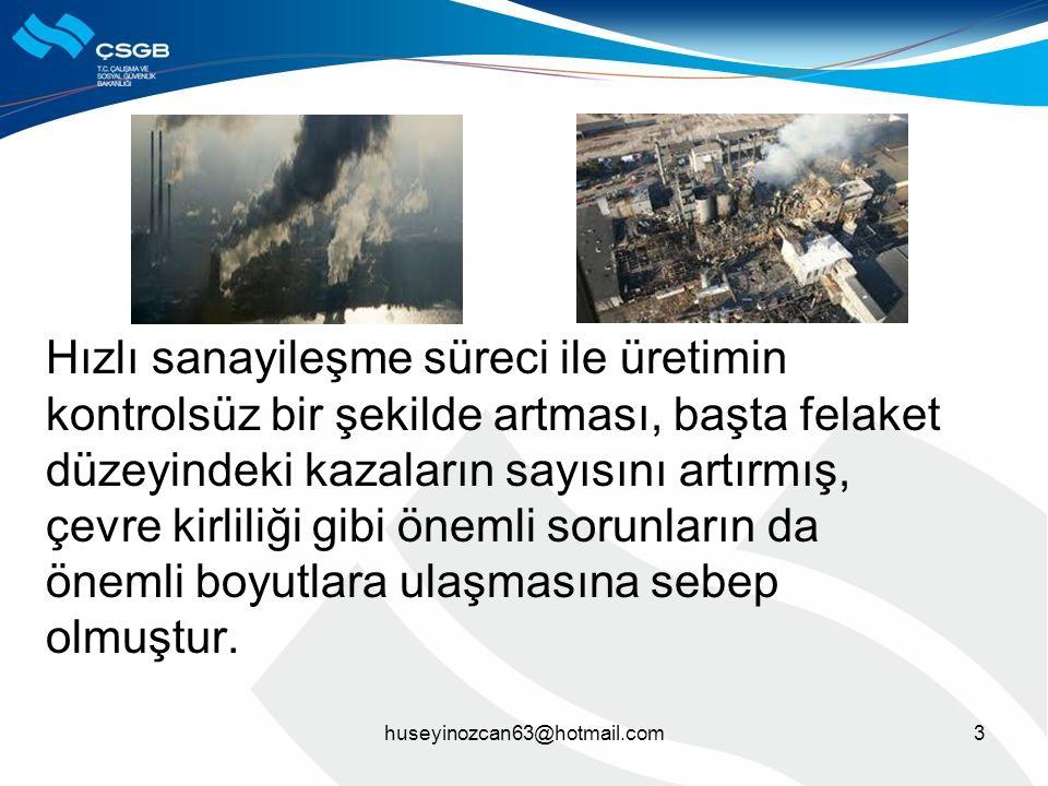4 Tehlikeli kimyasal maddelerin üretilmesi, kullanılması ve depolanması nedeniyle dünyada ve ülkemizde meydana gelmiş olan büyük endüstriyel kazalar;