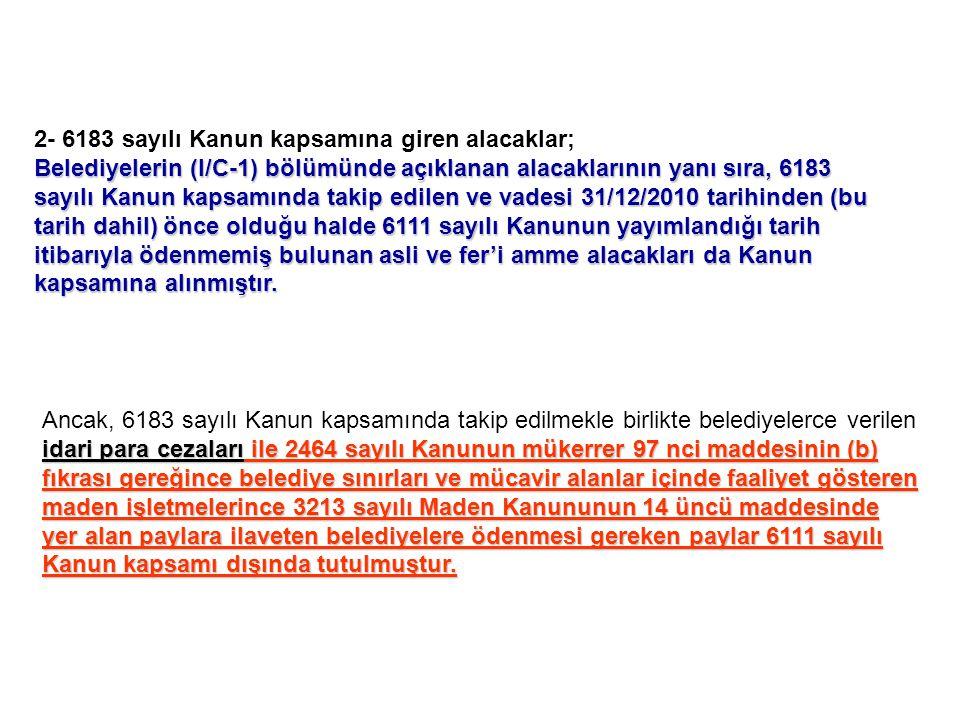 Madde-97 belediye meclislerince düzenlenecek tarifelere göre ücret almaya yetkilidir.