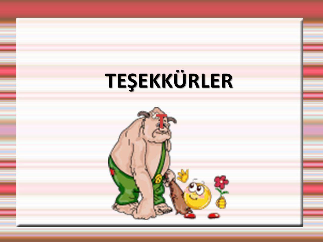 T TEŞEKKÜRLER