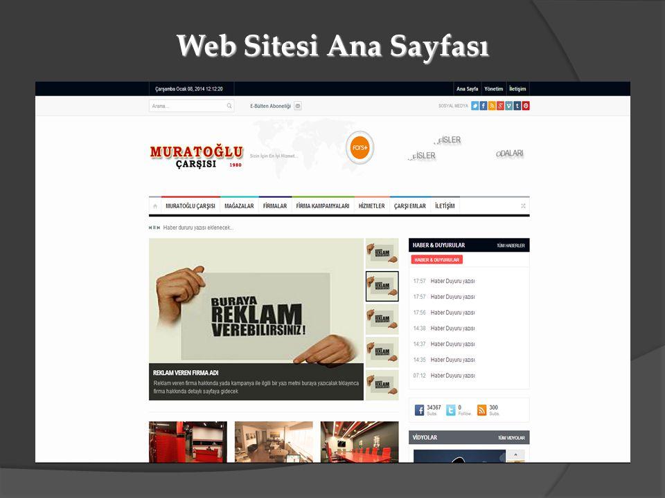 Web Sitesi Ana Sayfası
