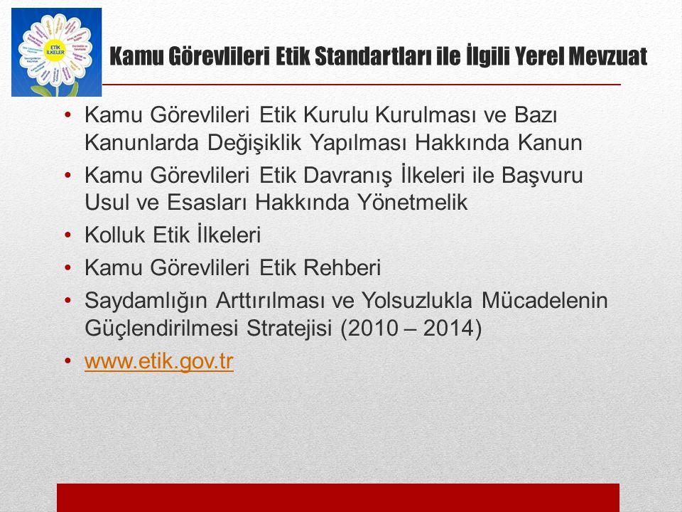TÜRKİYE'DE YOLSUZLUKLA MÜCADELE 2013.