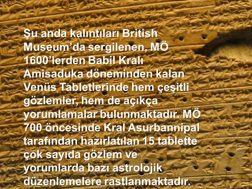 En eski astrolojik döküman olan Enuma Anu Enlil'in yazılış tarihi MÖ 1800– 1500 arasıdır. 7.000 göksel işaret ve gözlemden oluşan bu tabletlerde gökse