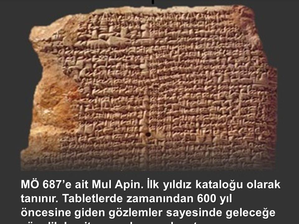 """M.Ö 700 civarlarında, Mezopotamya'da Babil'in güneyinde yerleşmiş olan ve """"çağdaş"""" yerlileri dikkate alan Kildaniler, özellikle gökyüzünün keskin gözl"""