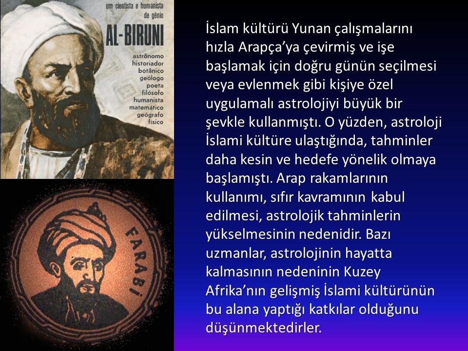 Ünlü dokuzuncu yüzyıl İslami astrologu Ebu Mazhar orta çağda astrolojinin yeniden canlanmasına olanak sağlamıştır. Üç ya da dört yüzyıl sonra, çalışma