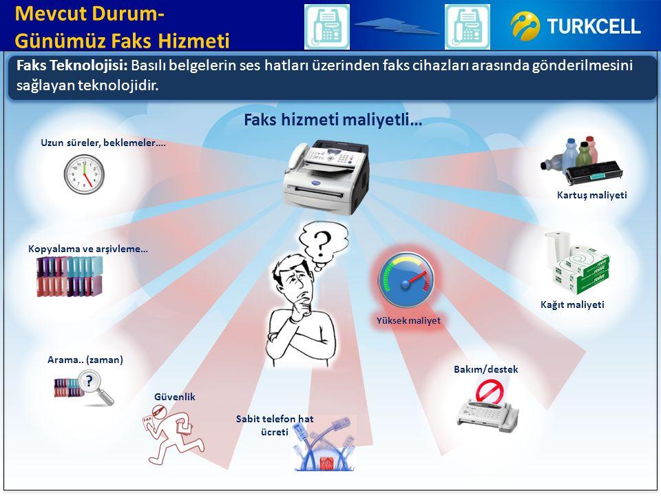 Faks Teknolojisi: Basılı belgelerin ses hatları üzerinden faks cihazları arasında gönderilmesini sağlayan teknolojidir. Mevcut Durum- Günümüz Faks Hiz