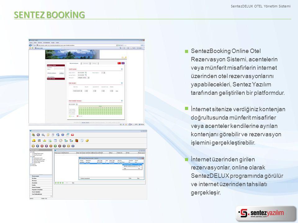 SENTEZ BOOKİNG SentezBooking Online Otel Rezervasyon Sistemi, acentelerin veya münferit misafirlerin internet üzerinden otel rezervasyonlarını yapabil