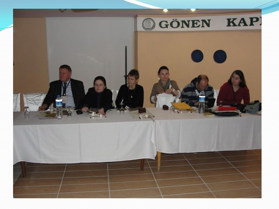 04.DECEMBER 2011 SUNDAY 09:00 Breakfast with the Mayor of Gönen at Yıldız Hotel 10:30 A short trip to town center A visit to FOTEM 12.00 LUNCH Dereköy Trout Farm Restaurant 14:00 Evaluating meeting of the Project Deciding the next meeting's headlines.