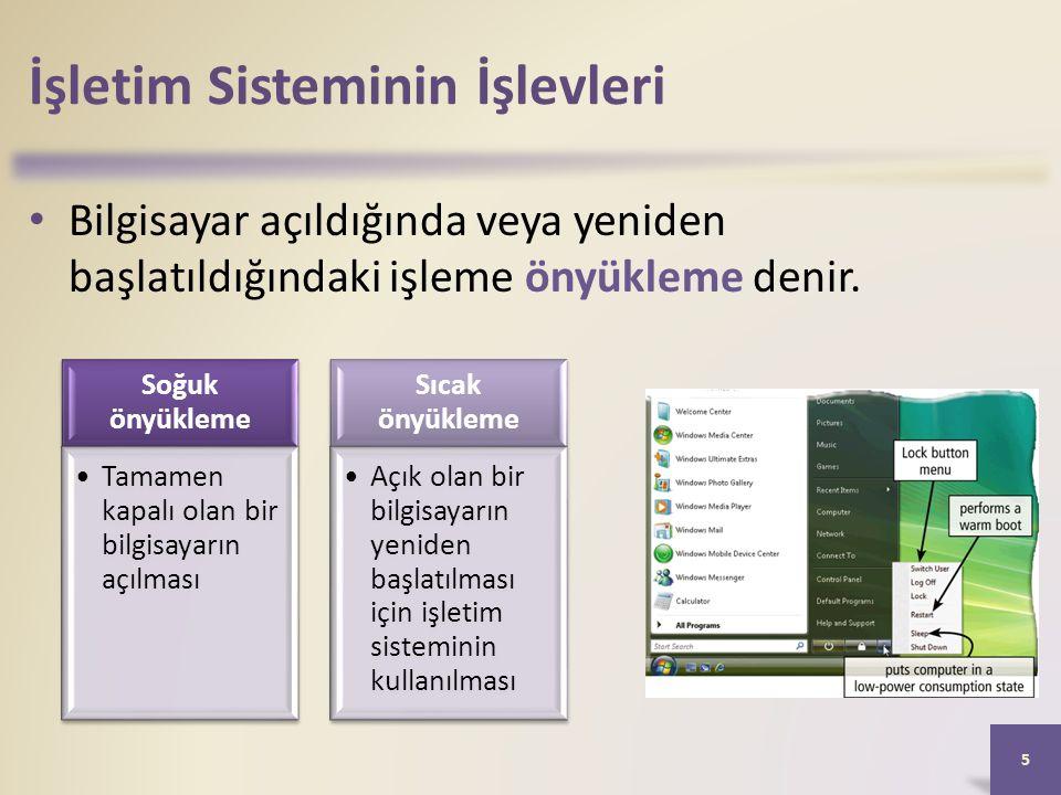 İşletim Sisteminin İşlevleri • İşletim sistemleri, internet bağlantısı kurmak için kolay yollar sağlarlar.