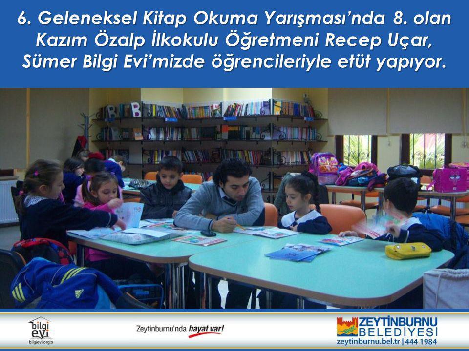 6. Geleneksel Kitap Okuma Yarışması'nda 8. olan Kazım Özalp İlkokulu Öğretmeni Recep Uçar, Sümer Bilgi Evi'mizde öğrencileriyle etüt yapıyor.