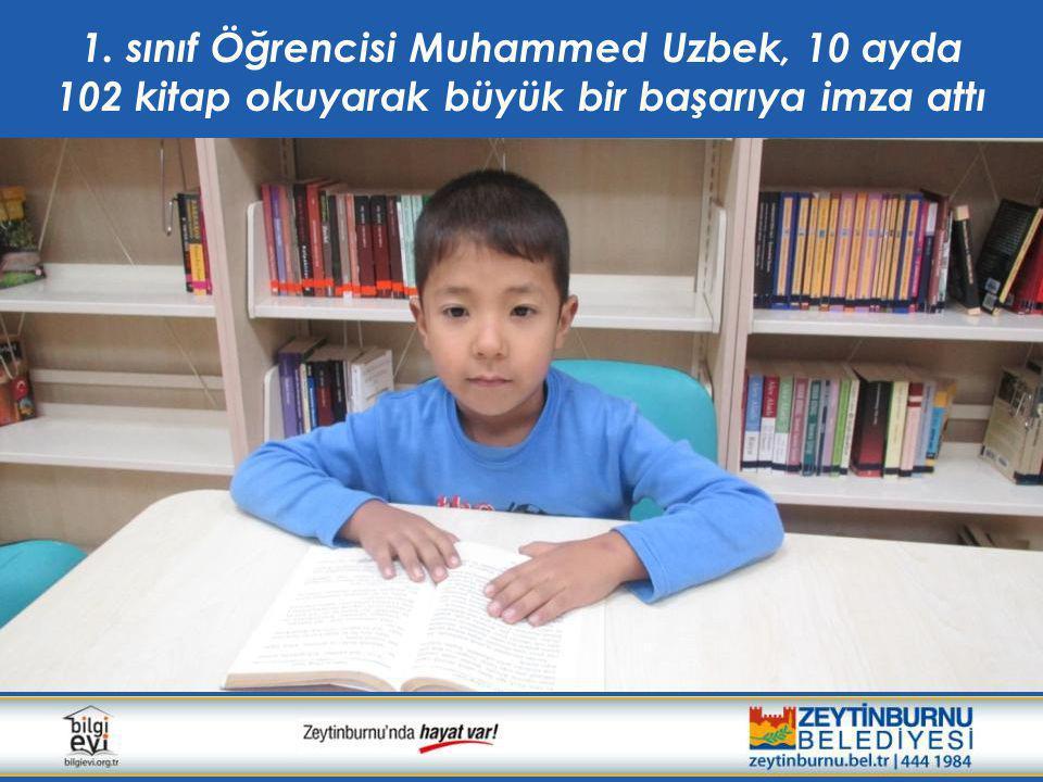 1. sınıf Öğrencisi Muhammed Uzbek, 10 ayda 102 kitap okuyarak büyük bir başarıya imza attı