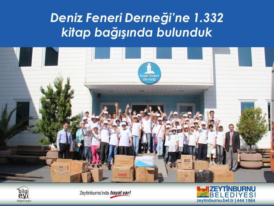 Deniz Feneri Derneği'ne 1.332 kitap bağışında bulunduk
