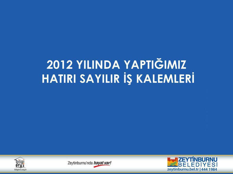 2012 YILINDA YAPTIĞIMIZ HATIRI SAYILIR İŞ KALEMLERİ