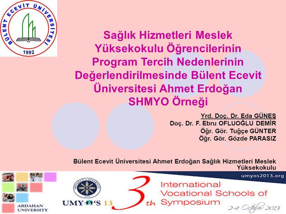 Sağlık Hizmetleri Meslek Yüksekokulu Öğrencilerinin Program Tercih Nedenlerinin Değerlendirilmesinde Bülent Ecevit Üniversitesi Ahmet Erdoğan SHMYO Ör
