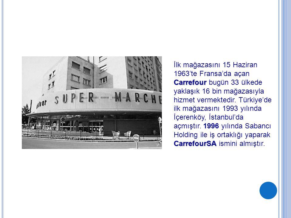 Carrefour CarrefourSA İlk mağazasını 15 Haziran 1963'te Fransa'da açan Carrefour bugün 33 ülkede yaklaşık 16 bin mağazasıyla hizmet vermektedir. Türki