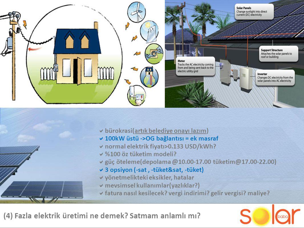 (4) Fazla elektrik üretimi ne demek.Satmam anlamlı mı.