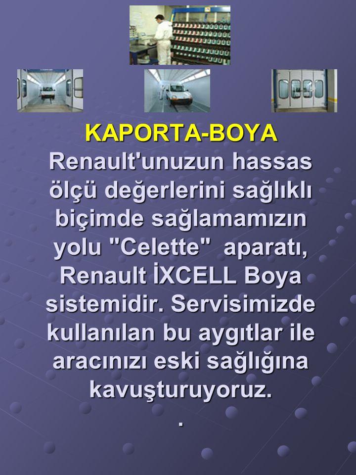 KAPORTA-BOYA Renault'unuzun hassas ölçü değerlerini sağlıklı biçimde sağlamamızın yolu