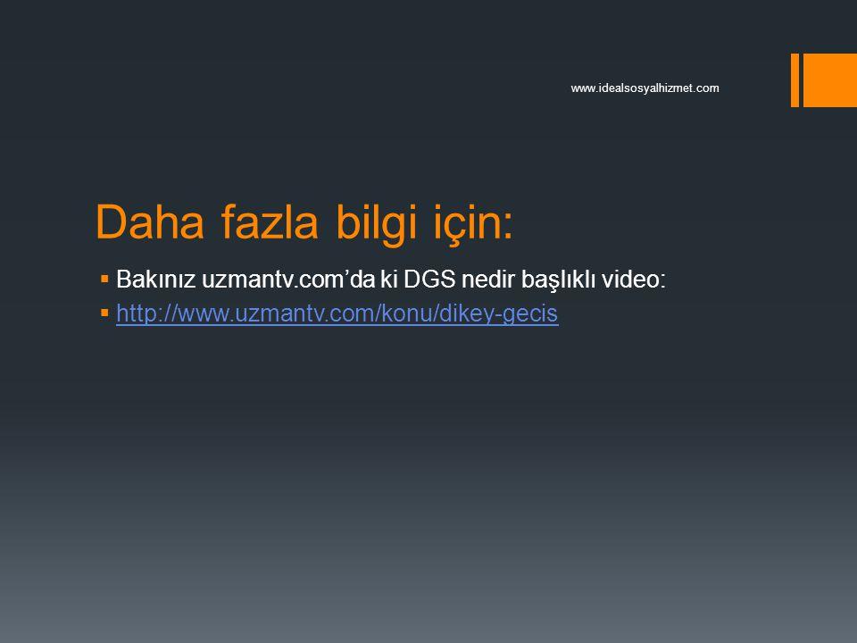 Daha fazla bilgi için:  Bakınız uzmantv.com'da ki DGS nedir başlıklı video:  http://www.uzmantv.com/konu/dikey-gecis http://www.uzmantv.com/konu/dik