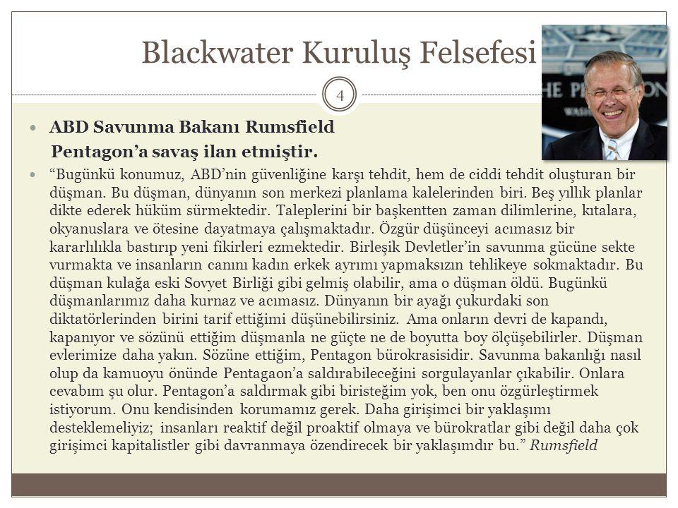 Irak Felluce Ön Bilgi  ABD Saddamsızlaştırma projesini Irak'ta işleme koymuş ve bunu Blackwater ile yapmaktaydı.