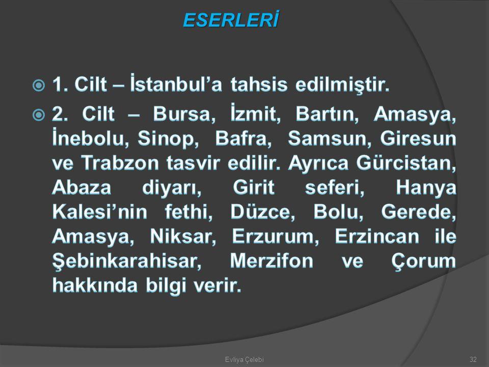 Evliya Çelebi32 ESERLERİ