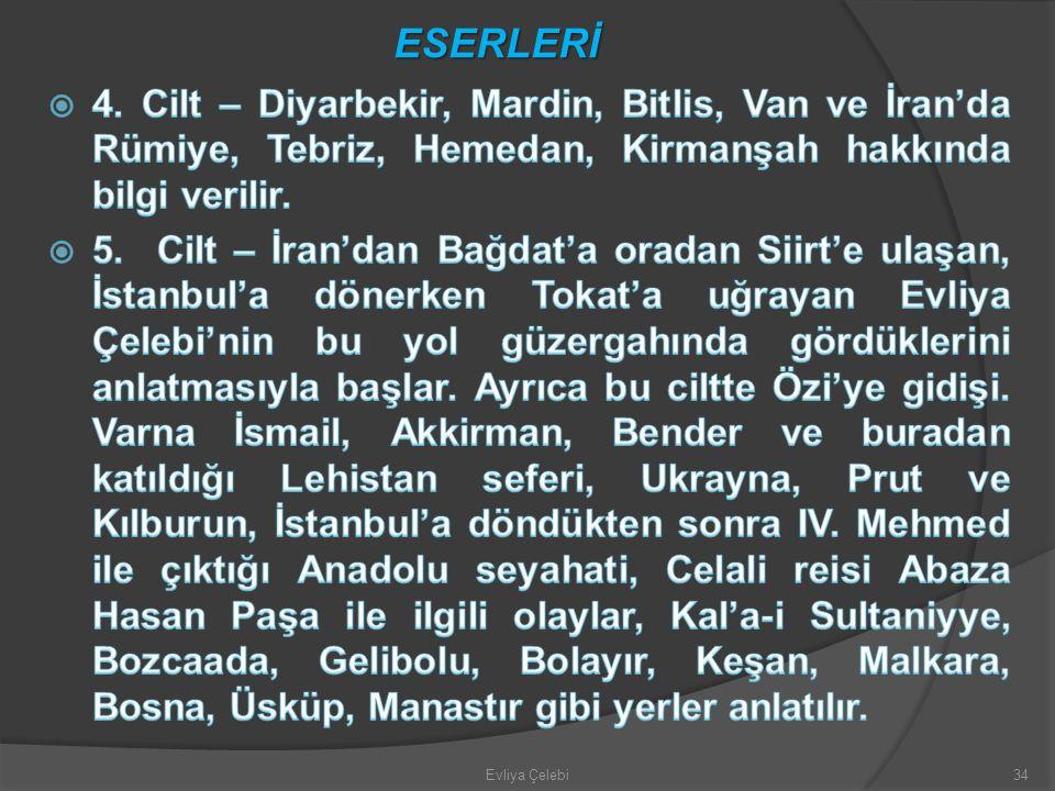 Evliya Çelebi34 ESERLERİ