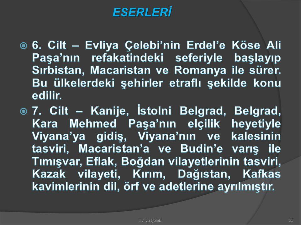 Evliya Çelebi35 ESERLERİ