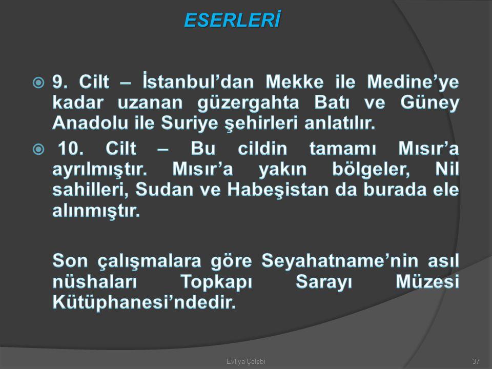 Evliya Çelebi37 ESERLERİ