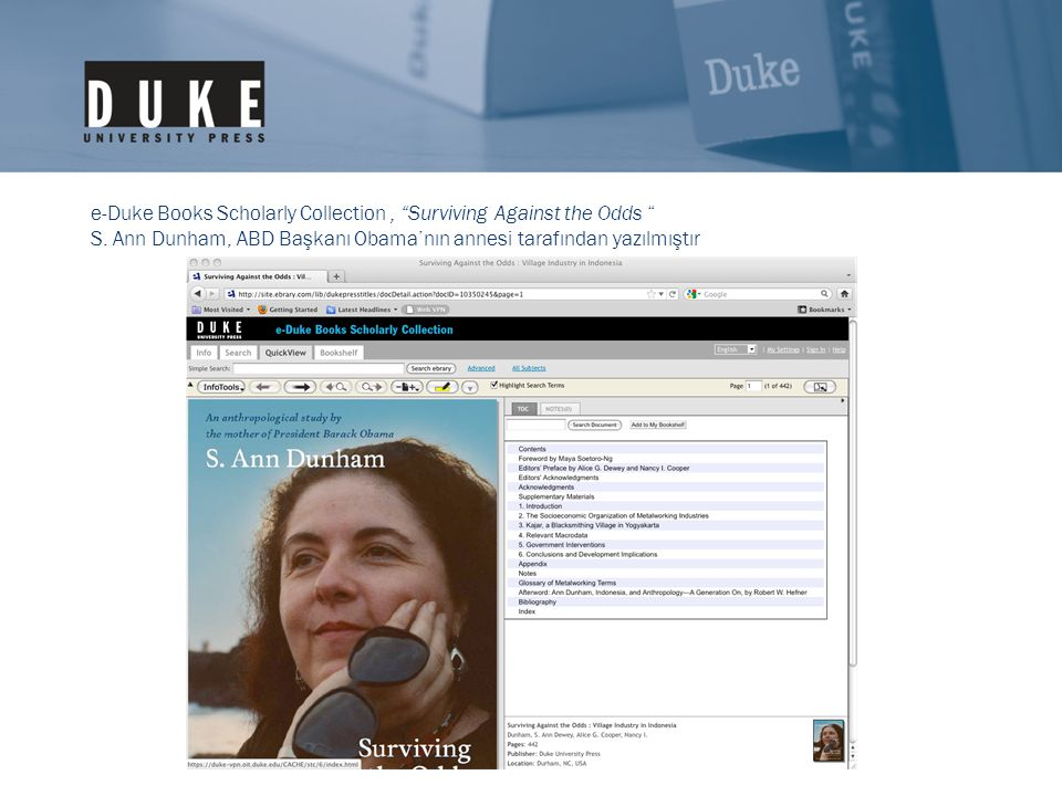 e-Duke Books Scholarly Collection, Surviving Against the Odds S.