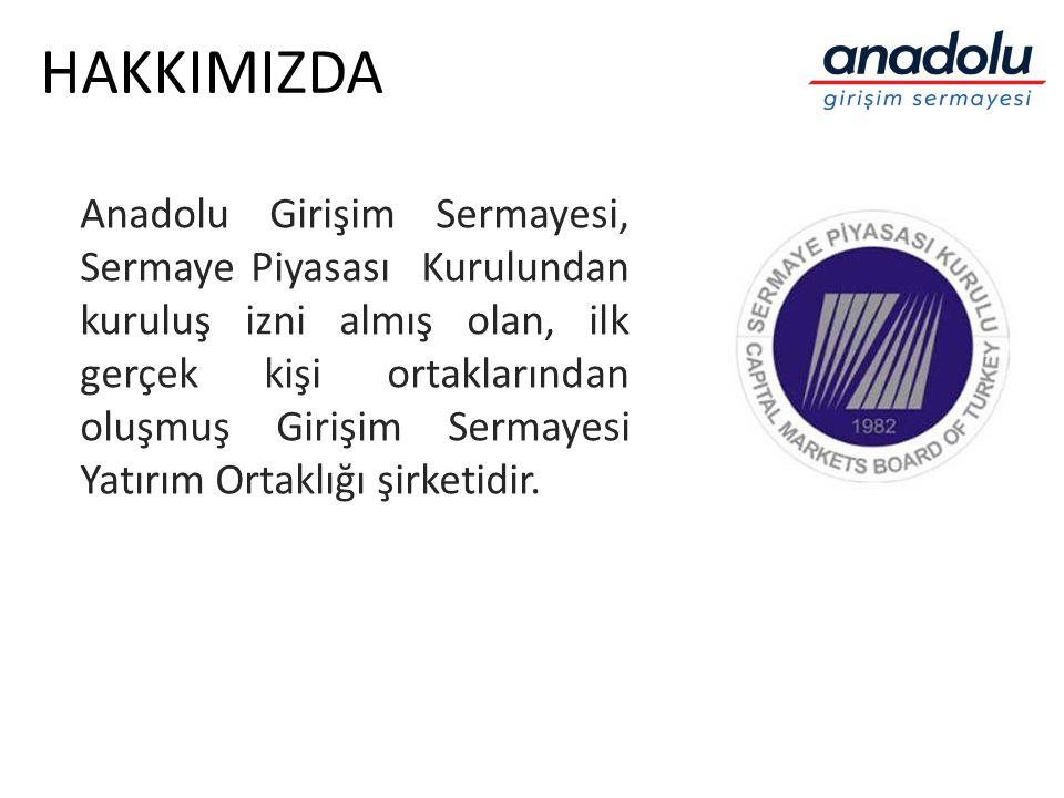 HAKKIMIZDA Anadolu Girişim Sermayesi, Sermaye Piyasası Kurulundan kuruluş izni almış olan, ilk gerçek kişi ortaklarından oluşmuş Girişim Sermayesi Yat