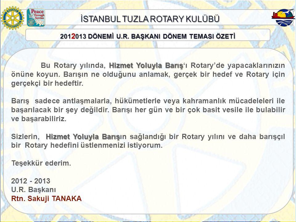 İSTANBUL TUZLA ROTARY KULÜBÜ ÜYELİK KOMİTESİ KOMİTE BAŞKANI: Rtn.