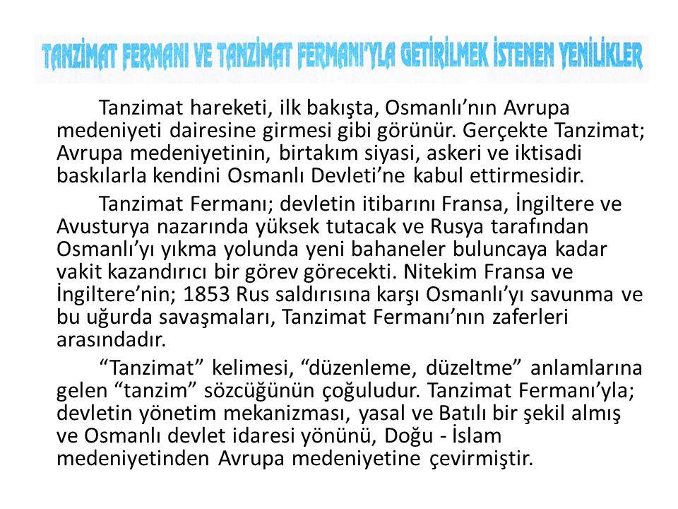 Gülhane Hatt-ı Hümayunu olarak da adlandırılan Tanzimat Fermanı, Sultan Abdülmecit Döneminde 3 Kasım 1839'da İstanbul'da Topkapı Sarayı önündeki Gülhane Parkı'nda Mustafa Reşit Paşa tarafından okunmuştur.