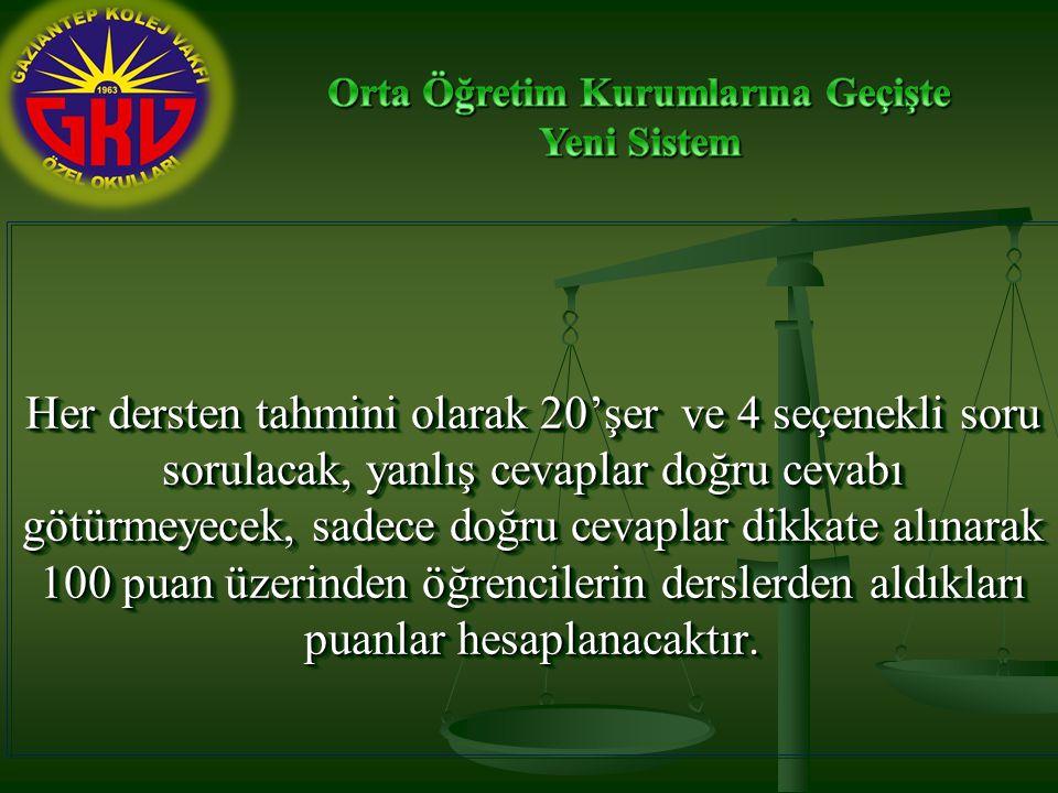 ,,,,,,,, Bu puanlar Türkçe, Matematik, Fen ve Teknoloji ile Yabancı Dil için 2.