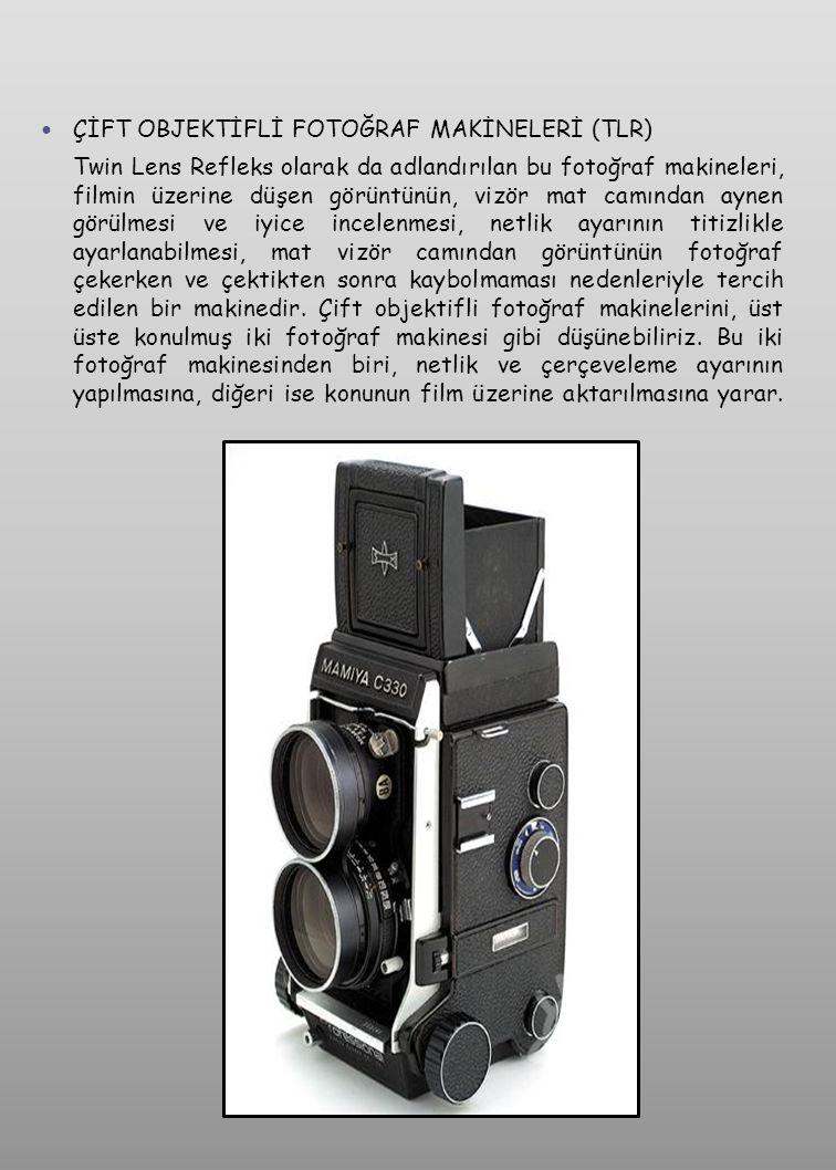  LEICA FORMAT TEK OBJEKTİFLİ SLR FOTOĞRAF MAKİNELERİ Bu tip fotoğraf makinelerine 24 x 36 mm.