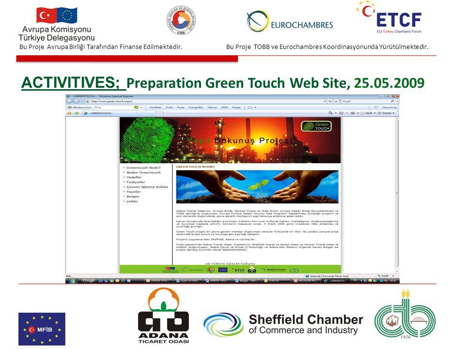 Bu Proje TOBB ve Eurochambres Koordinasyonunda Yürütülmektedir.