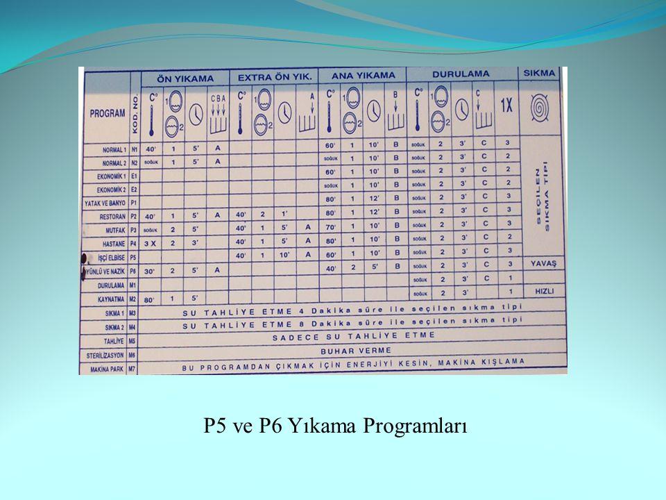 P5 ve P6 Yıkama Programları