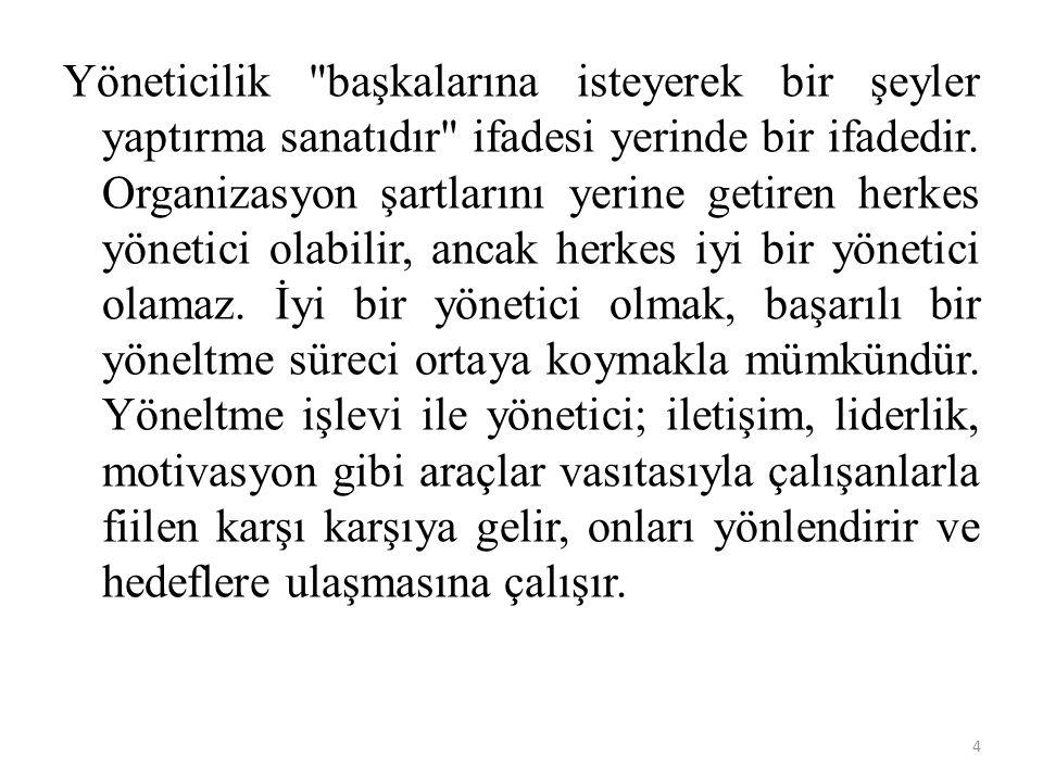 3.MODERN YÖNETİM DÜŞÜNCESİ 1.