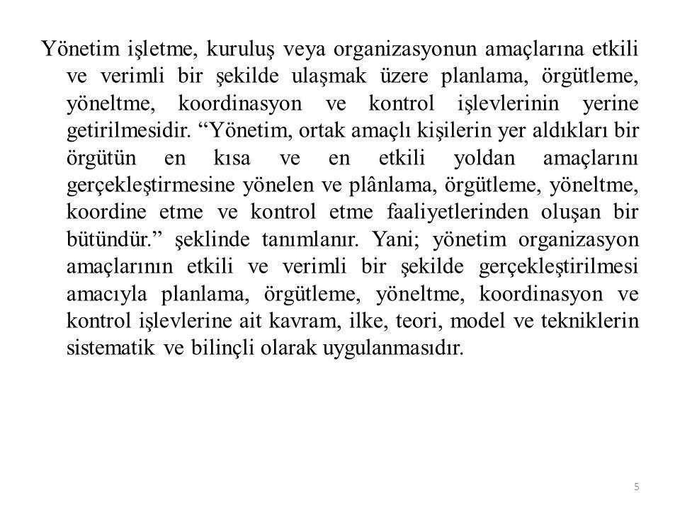 4.İşlevsel Ustabaşılık.