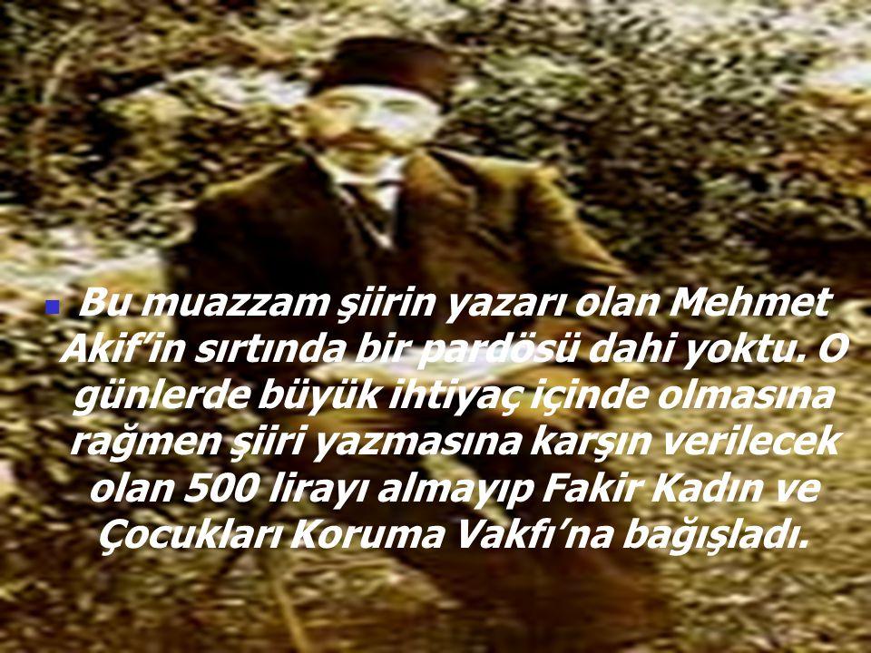 NİMET KARAKOÇ  Meclis İstiklâl Marşı'nı alkışlar ve gözyaşları arasında 12 Mart 1921'de kabul etti.
