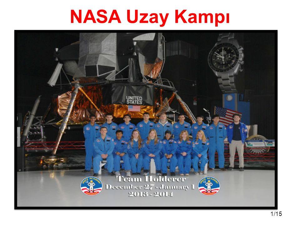 1/15 NASA Uzay Kampı
