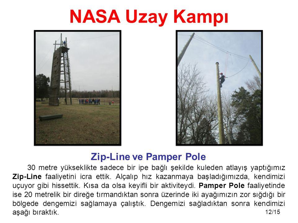 12/15 30 metre yükseklikte sadece bir ipe bağlı şekilde kuleden atlayış yaptığımız Zip-Line faaliyetini icra ettik. Alçalıp hız kazanmaya başladığımız